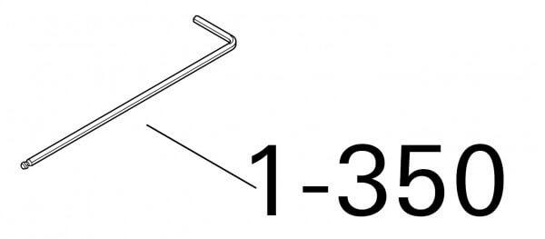 1-350 Roto Spannschlüssel kurz SW 5 33mmx165mm