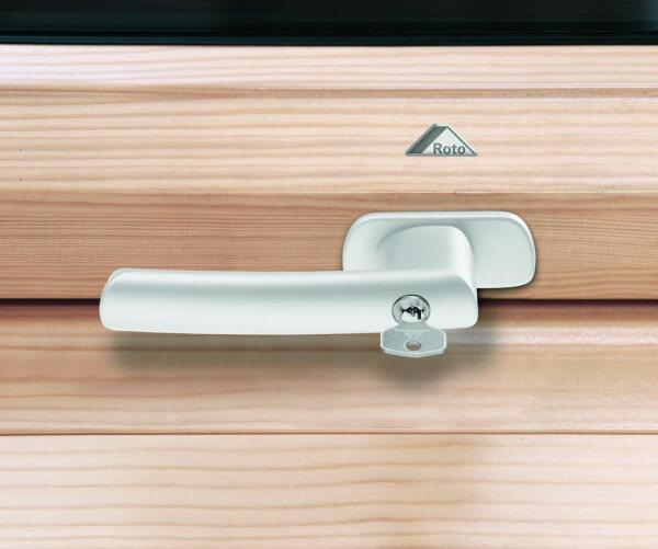 Roto Abschliessbarer Griff weiß für R6/R8 aus Holz