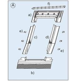 Roto Einzel- Eindeckrahmen für Austausch- Renovierungsfenster ab 1994
