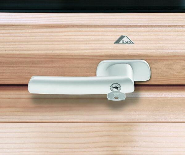Roto Abschliessbarer Griff für Baureihe 6x/8x H 52 mm