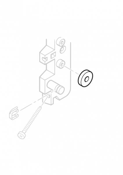 1-087 Roto Anschlagstück schwarz 73/R7 H/K