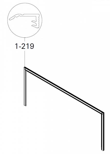 1-219 Roto Blendrahmendichtung oben 3tlg.